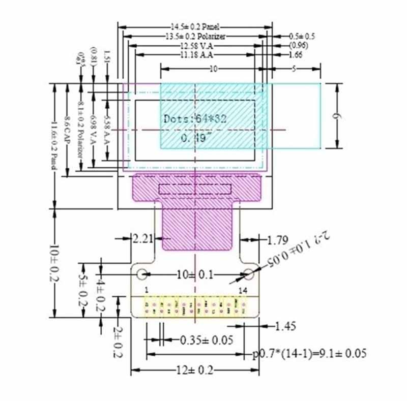 XMAO0049 0 49inch oled display, resolving pow60*32, 150 cd/m²
