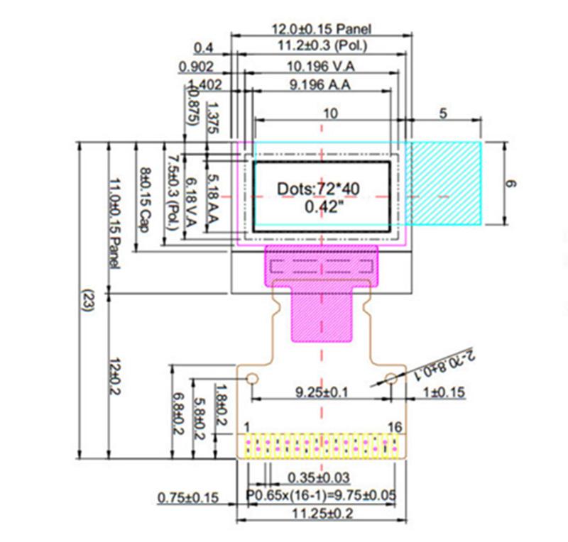 XMAO0042 0 42inch oled display , resolving pow72*32, 360cd/m²